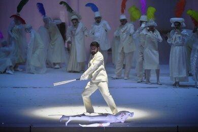 Davide Luciano singt und spielt Don Giovanni in der gleichnamigen Oper bei den Salzburger Festspielen.