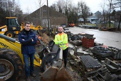 Die BS-Uni-Bau GmbH soll umziehen. Die beiden Geschäftsführer Boris Schulze (links) und Chris Müller sagen, sie suchen seit Jahren das Gespräch mit der Stadt - allerdings ohne Erfolg.