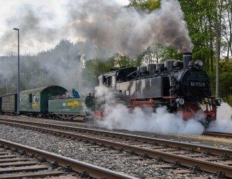 Die Fichtelbergbahn lädt zur Werkstattführung ein.
