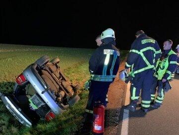 Die Feuerwehren aus Geringswalde und Altgeringswalde sicherten die Unfallstelle.