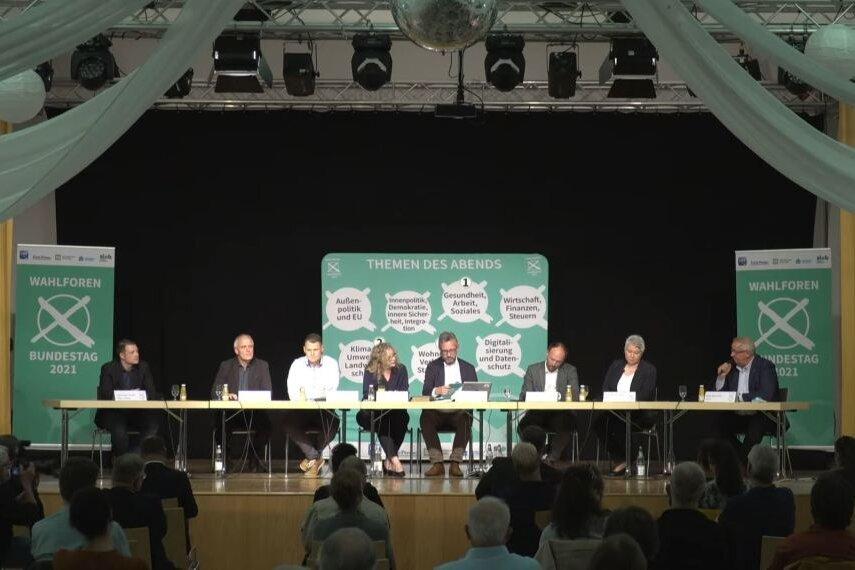 Das war das Wahlforum mit den Kandidaten für das Chemnitzer Umland - Erzgebirgskreis II