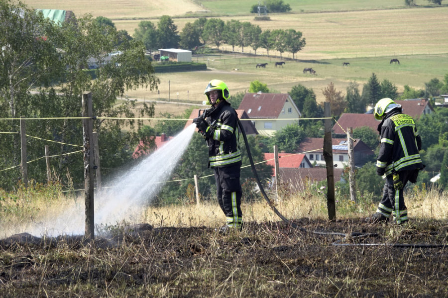 Das schnelle Eingreifen der Feuerwehr brachte den Brand schnell unter Kontrolle.