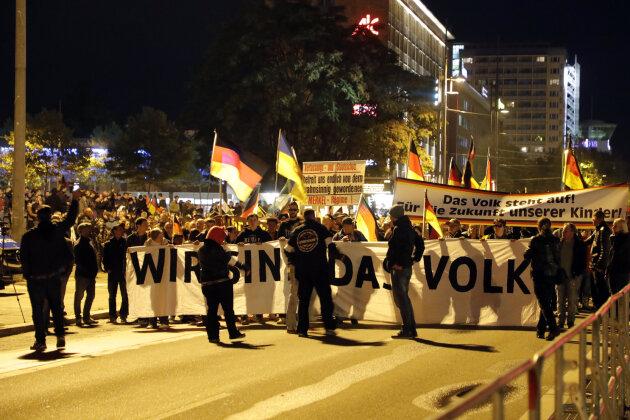Laut Polizei nahmen an der Demonstration am Freitagabend etwa 2200 Personen teil.