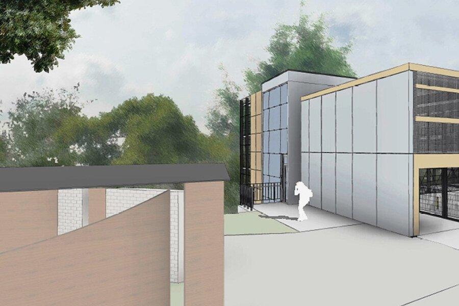 So soll das neue Parkhaus am Forstparkplatz in Schwarzenberg aussehen.