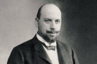 Kommerzienrat Louis Ladewig auf einer undatierten Aufnahme. Der jüdische Chemnitzer Teppichfabrikant verunglückte heute vor 100 Jahren auf einer Fahrt nach Leipzig.