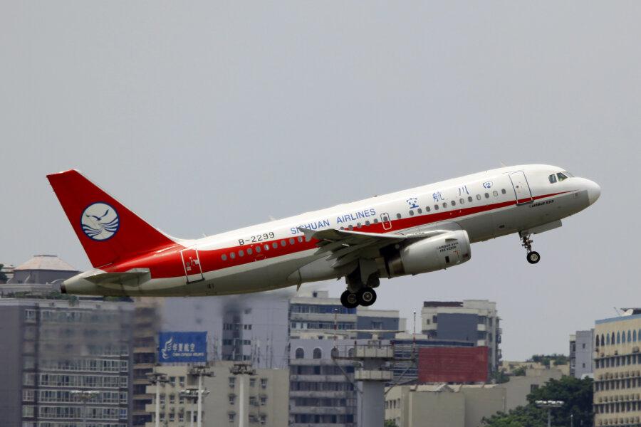 Ein Airbus A 319 der Sichuan Airlines (Symbolbild)
