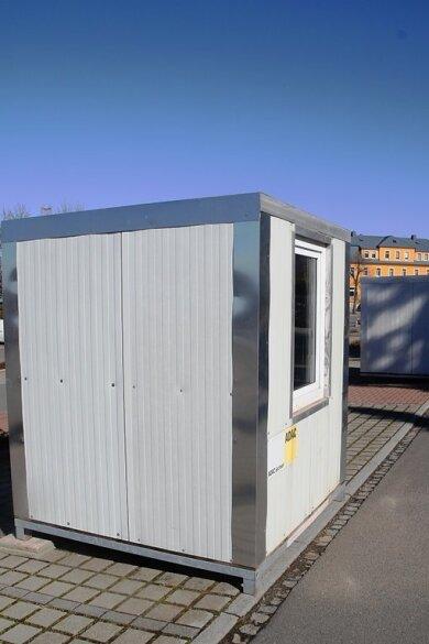 Ähnlich wie hier im Bild in Augustusburg sollen Container im Lichtenauer Oli-Park aufgestellt werden. So soll ein neues Testzentrum entstehen.
