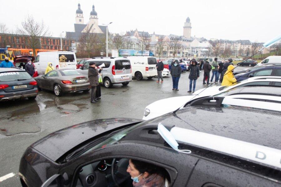 Autokorso aus dem Vogtland nach Chemnitz