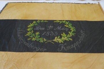 Die erste Fahne der Schwarzenberger Knappschaft von 1835.