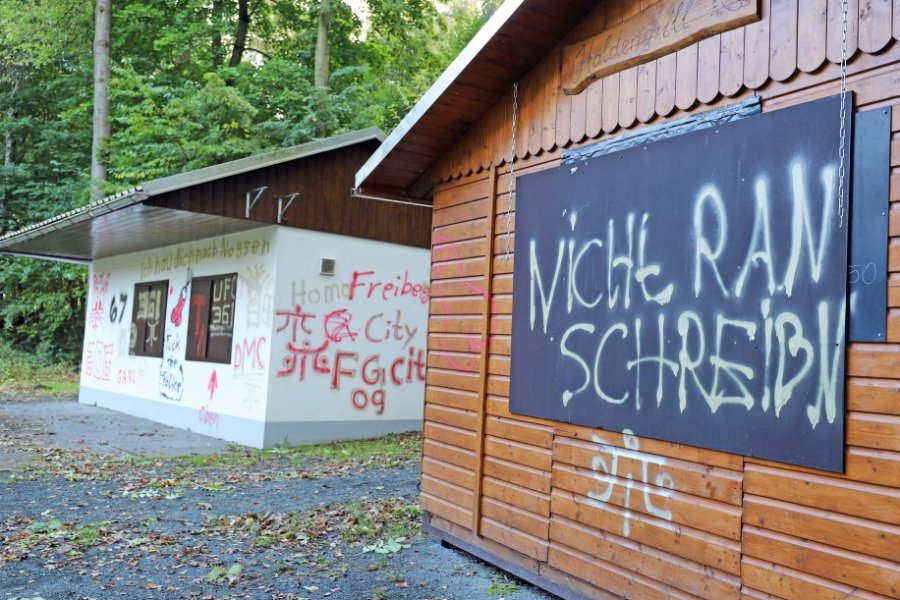 Vandalismus im Zuger Haldenpark