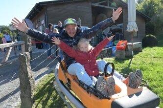 Björn Schlag und Tochter Ruby sind begeistert.