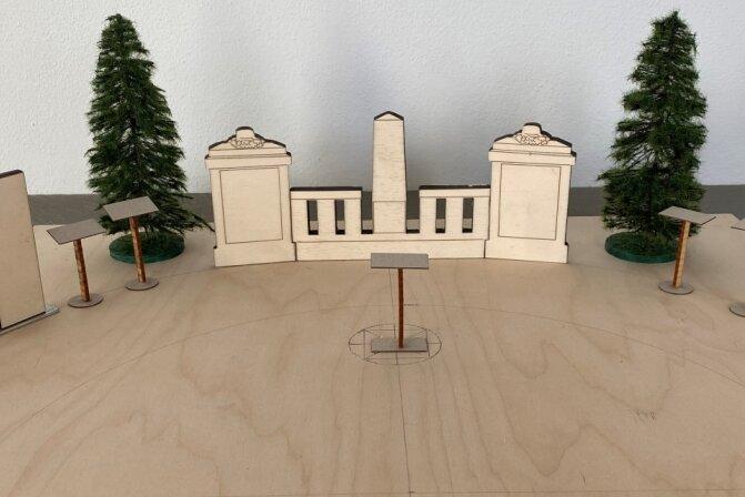 Entwurf für das neue Denkmal an der Kirche Tannenbergsthal