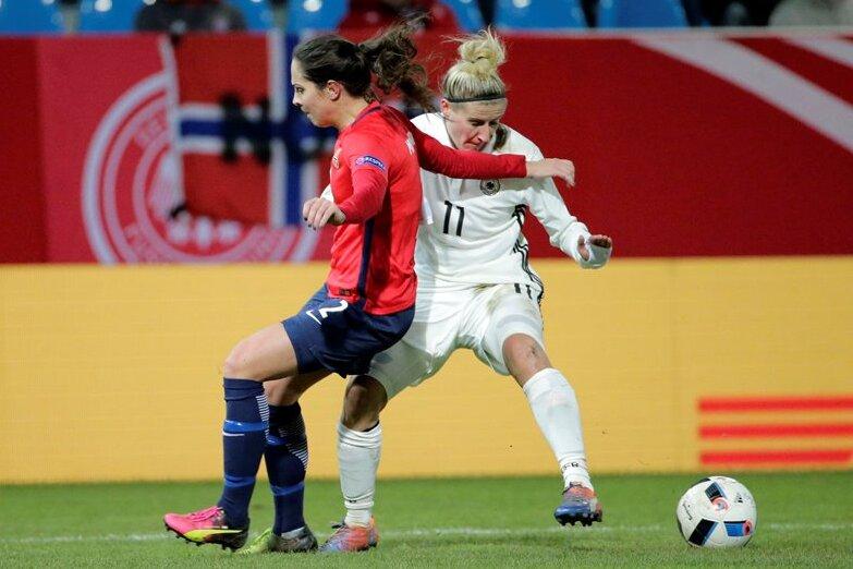 DFB-Frauen in Chemnitz: 6000 Fans sehen ein 1:1 gegen Norwegen
