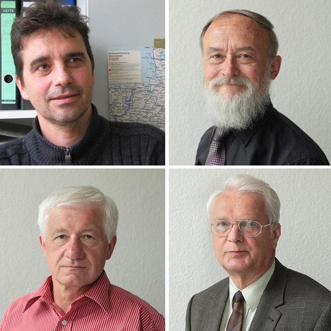 Die Experten: oben: Dr. Volker Fingerle und Dr. Dietmar Beier; unten: Matthias Andrä und Professor Siegwart Bigl