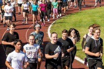 Schüler und Lehrer drehten in Olbernhau ihre Runden für den guten Zweck.