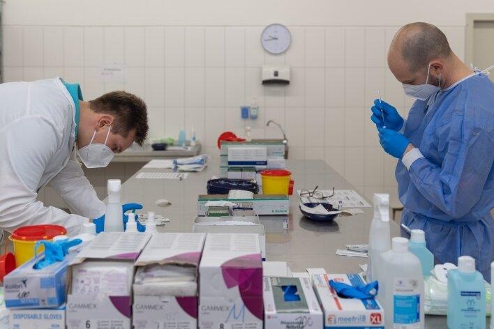 Dem Annaberger Impfzentrum wurden bisher 50.000 Dosen verschiedener Hersteller geliefert.