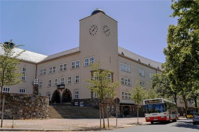 Das Pestalozzi-Gymnasium Rodewisch stammt aus dem Jahr 1930.