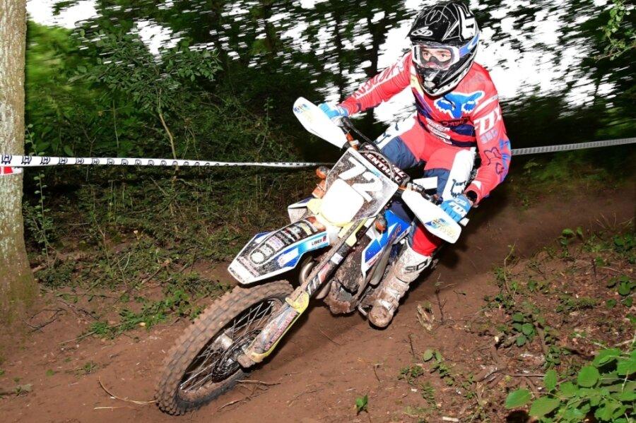 Jörg Haustein kam mit der Piste im hessischen Waldkappel gut zurecht und fuhr auf Platz 3.
