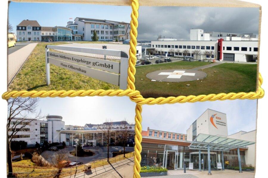 Die drei Krankenhausgesellschaften mit Standorten in Annaberg, Zschopau, Olbernhau und Stollberg sollen fusionieren.