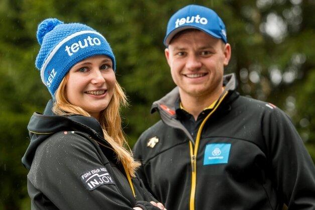 Eine Rodlerliebe: Julia Taubitz und Toni Eggert.