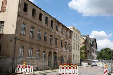 Die Häuserzeile in der Schützenstraße.