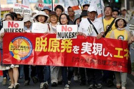 Gegen die Pläne der Regierung, wieder zur Atomkraft zurückzukehren, gab es in diesem Jahr zahlreiche Proteste.