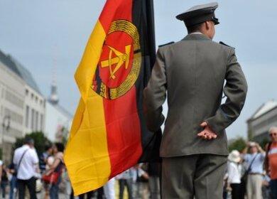 Die DDR-Flagge kam oft zum Einsatz.