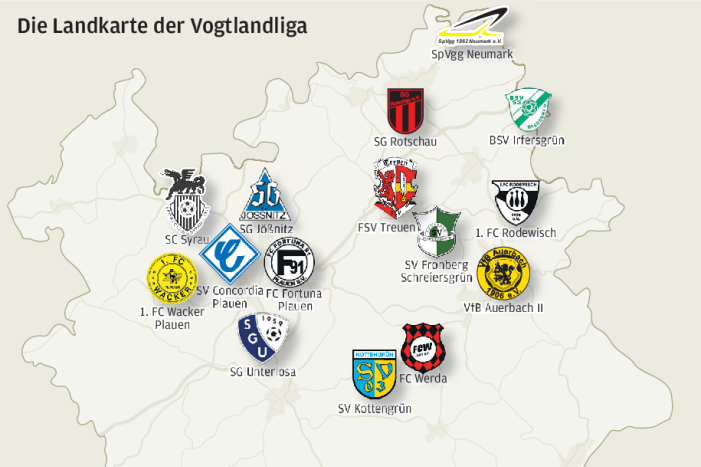 Diese Mannschaften treten in der Vogtlandliga an