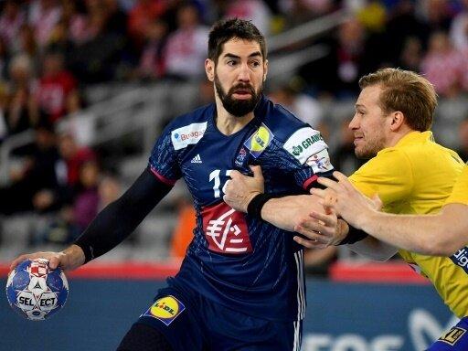 Nikola Karabatic (l.) steuerte zwei Treffer zum Sieg bei