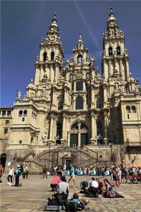 Am Ziel: Die Kathedrale von Santiago de Compostela.
