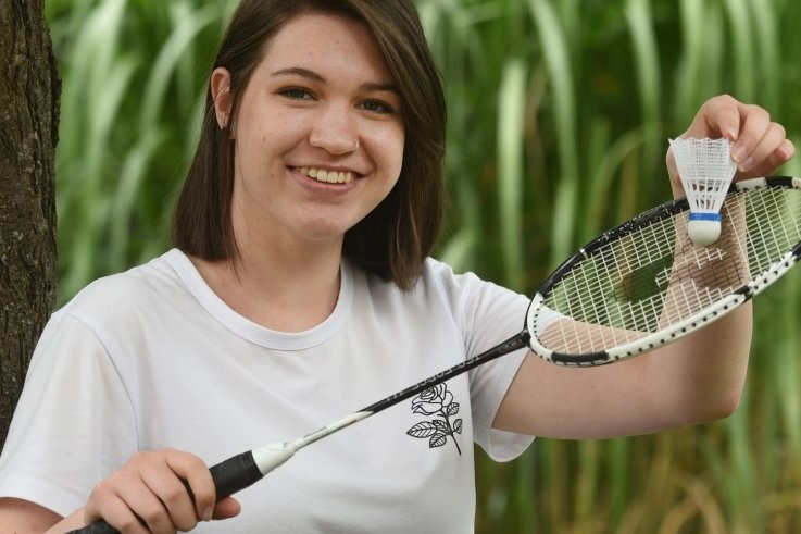 In der Freizeit spielt Laura-Loreen Eidam gern Federball im Verein. Nach dem erfolgreichen Schulabschluss belohnt sie sich mit Extra-Training.