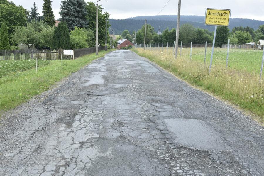 Der LPG-Weg in Arnoldsgrün: Sein Zustand ist sehr schlecht.