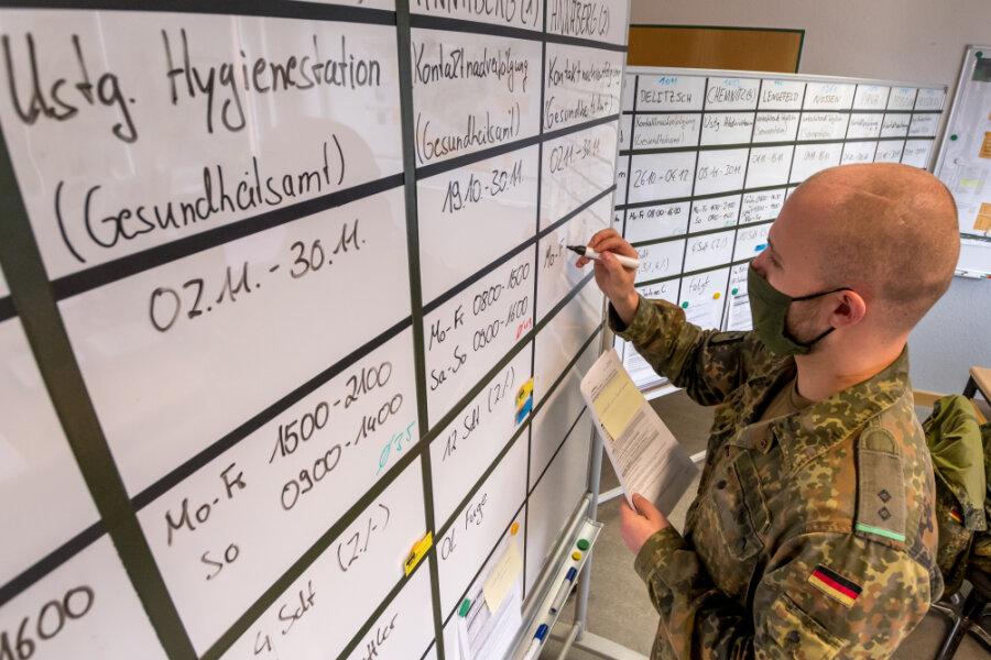 Einsatzort, Auftrag, Zeitraum, Dienstzeiten, Truppenstärke, Verantwortlicher vor Ort: An zwei großen Tafeln werden in der Operationszentrale alle aktuellen Anträge genauestens dokumentiert.
