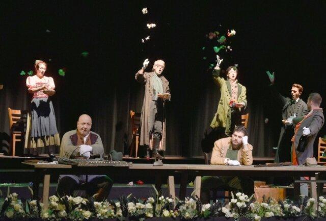 """Die Oper """"Der Freischütz"""" kam am Sonntag coronabedingt nur in einer semiszenischen Fassung in Bad Elster zur Aufführung."""
