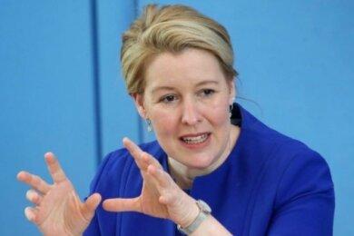 Bundesfamilienministerin Franziska Giffey tritt zurück.