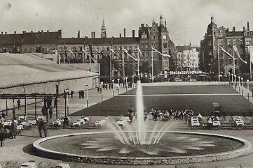 Westsachsenschau im Jahr 1938 auf dem Hindenburgplatz