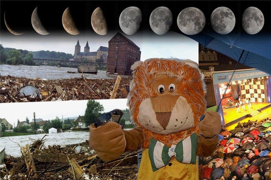 Mit dem Wetter zum Tag der Sachsen hatten schon Rochlitz 1995 und Mittweida 2009 schlechte Erfahrungen gemacht. So regnete es trotz Vollmond zum Auftakt des Festes in Mittweida.