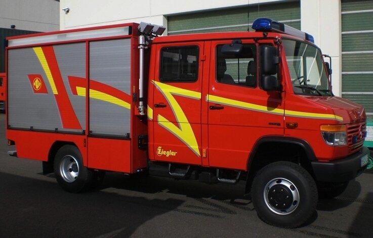 """<p class=""""artikelinhalt"""">Ähnlich wie dieses Vorführmodell wird das neue Einsatzfahrzeug der Ortswehr Albernau aussehen: ein TSF-W mit Allradantrieb. </p>"""