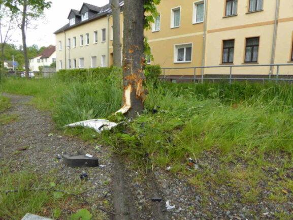 Am Baum entstanden deutliche Schäden.