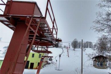 Der Skilift am Külliggut in Johanngeorgenstadt.