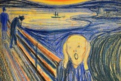 """Wie im Gemälde """"Der Schrei""""von Edvard Munch fühlt man sich mitunter in Coronatagen."""
