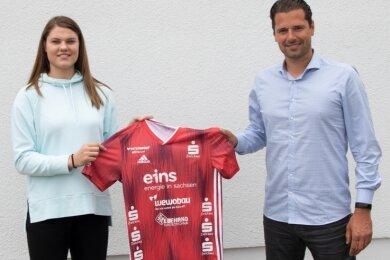 Brigita Ivanauskaite trägt mindestens für die nächsten zwei Jahre das Trikot des BSV Sachsen Zwickau und will mit der Mannschaft von Trainer Norman Rentsch an der Spitze mitmischen.