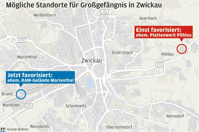 Zwickau-Marienthal wehrt sich gegen Gefängnis