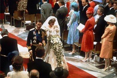 Als Traumhochzeit wurde die Eheschließung von Charles und Diana gefeiert.