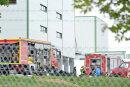 Die Feuerwehr rückte am Donnerstagvormittag zur Molkerei in Freiberg aus.