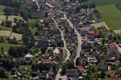 Blick über die Großgemeinde Mülsen.