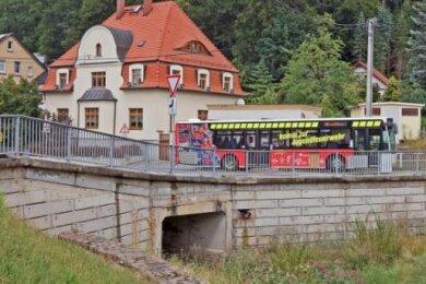 Die Schmutzlerbrücke im Mülsener Ortsteil Ortmannsdorf.