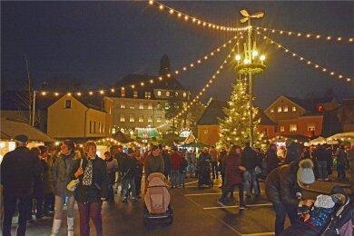 Lugauer Weihnachtsmarkt. Noch ist unklar, ob er stattfindet.