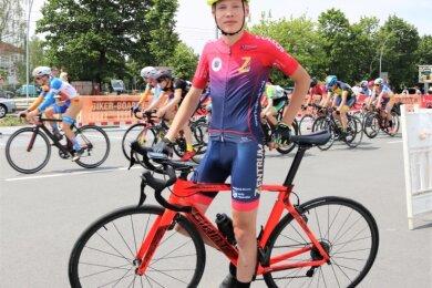 Große Ziele: Radsportler Elias Morgenstern aus Freiberg, der bislang für den Dresdner SC in die Pedale trat. Im neuen Schuljahr wechselt der 13-Jährige ans Sportgymnasium Erfurt.
