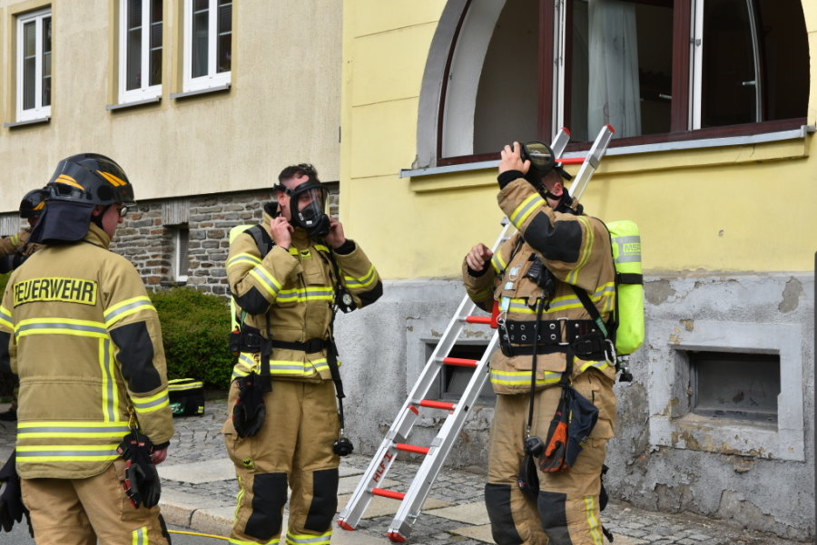 Feuerwehreinsatz wegen Essensbrand in Stollberg